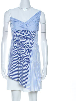 Victoria Beckham Victoria White Paneled Cotton Overlay Mini Dress S