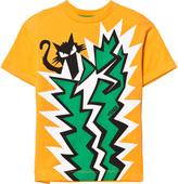 Fendi Orange Cat and Cactus Print Tee