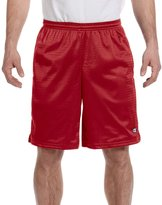 Champion Mens Long Mesh Shorts with Pockets, S162, M,
