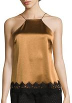 ABS by Allen Schwartz Lace Trimmed Satin Camisole