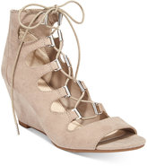 Bar III Kerry Lace-Up Wedge Dress Sandals, Only at Macy's