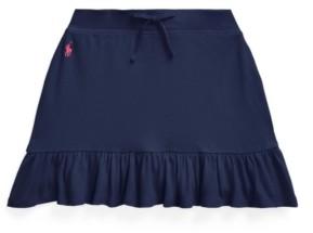 Polo Ralph Lauren Big Girls Ruffled Stretch Mesh Skort