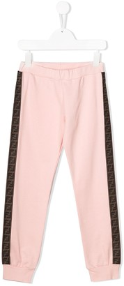Fendi Kids Logo Stripe Track Pants