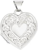 Sterling Scroll Heart Locket