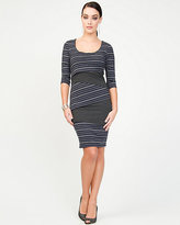 Le Château Jersey Stripe Shift Dress