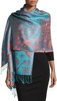 Sabira Paisley Jacquard Weave Shawl, Pink Floral