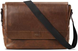 Shinola Men's Slim Navigator Leather Messenger Bag