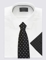 Marks and Spencer Pure Silk Spotted Tie & Pocket Square