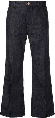 Tory Burch cropped flare jeans