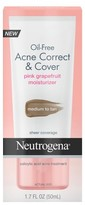 Neutrogena Oil-Free Acne Correct & Cover Pink Grapefruit Moisturizer Medium to Tan- 1.7 Fl. Oz