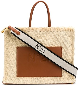 No.21 Woven Effect Tote Bag