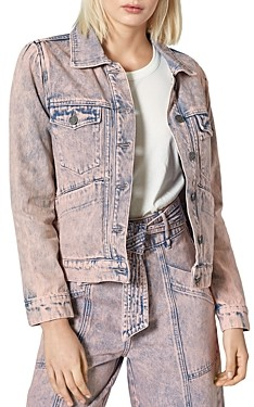 Joie Demerea Acid-Wash Denim Jacket