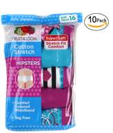 Fruit of the Loom Girls Cotton Stretch Hipsters Panty 10-PK