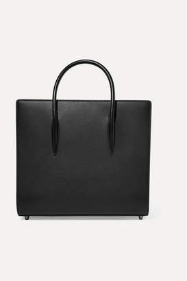 Christian Louboutin Paloma Large Textured And Patent-leather Tote - Black