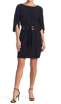 MSK Belted Tulip Sleeve Dress