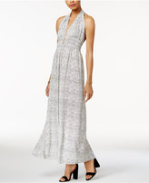 Bar III Printed Halter Maxi Dress, Created for Macy's