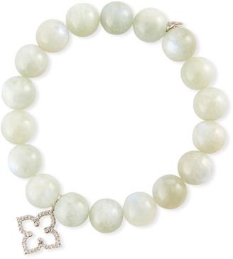 Sydney Evan 14k Diamond Moroccan Flower & Moonstone Bracelet