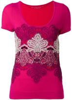 Ermanno Scervino lace inserts knitted top - women - Silk/Polyamide/Cashmere - 40