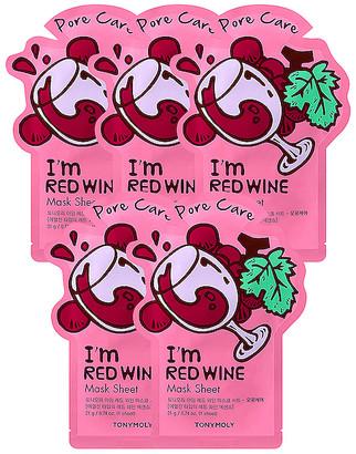 Tony Moly TONYMOLY I'm Red Wine Sheet Mask 5 Pack