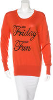 Markus Lupfer Wool Graphic Sweater