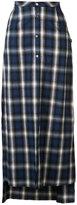 Amiri buttoned plaid skirt