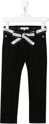 Givenchy Kids Belted Jeans