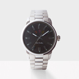 Paul Smith Men's Grey And Silver 'Block' Watch