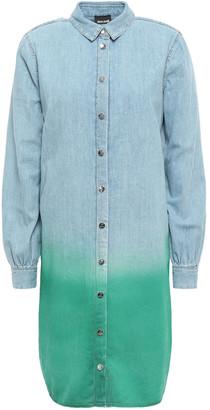 Just Cavalli Degrade Denim Mini Shirt Dress