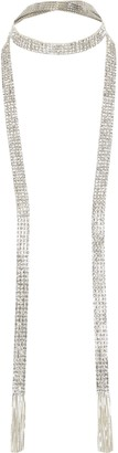 River Island Womens Silver colour diamante tassel scarf