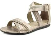 Ecco Touch Sandal Women Open Toe Suede Silver Gladiator Sandal.