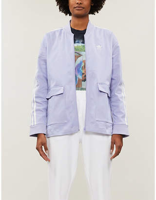 adidas Patch-pocket stretch-cotton jacket