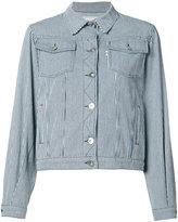 MAISON KITSUNÉ striped denim jacket - women - Cotton - XS