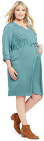 Motherhood Plus Size Maternity Shirt Dress