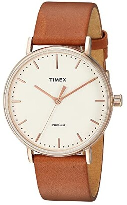 Timex Fairfield Two-Piece Strap 3-Hand (Brown/Natural) Watches