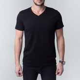 DSTLD V-Neck Tee in Black