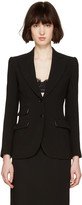 Dolce & Gabbana Black Wool Tailored Blazer