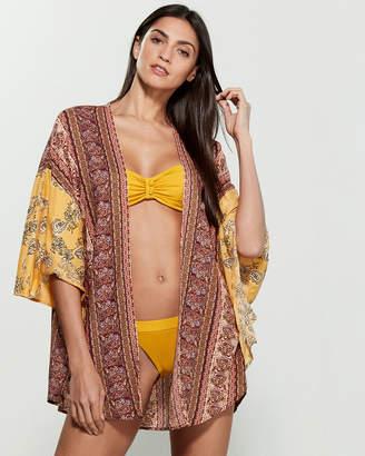 Angie Boho Printed Kimono Swim Cover-Up
