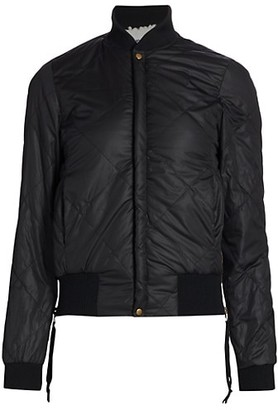 NSF Neil Side Zip Quilted Bomber Jacket