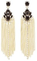 Charlotte Russe Chainlink Fringe Statement Earrings