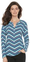 Dana Buchman Women's Splitneck Crepe Top