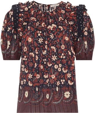 Ulla Johnson Arbor floral cotton top