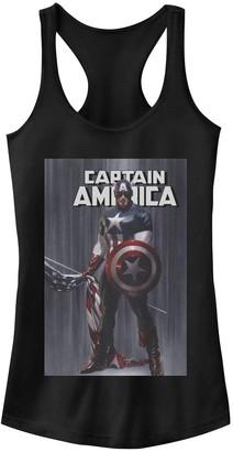 Licensed Character Juniors' Marvel Captain America Flag Poster Tank