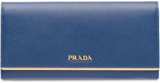 Prada long saffiano wallet