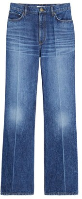Sandro Faded Flared Jeans