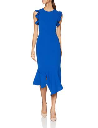 Karen Millen Women's Fit and Flare Ruffle DresParty Party Dress