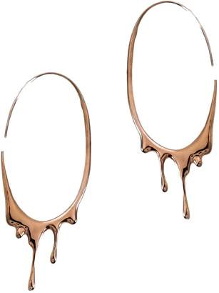 Marie June Jewelry Dripping Oval Immense Rose Gold Hoops