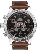 Nixon The 51-30 Chrono Leather Strap Watch