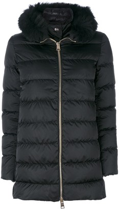Herno Fur Trim Hooded Coat