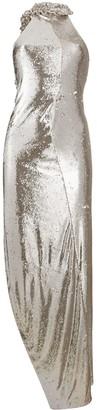 Off-White Crystal-Embellished Crystal Dress
