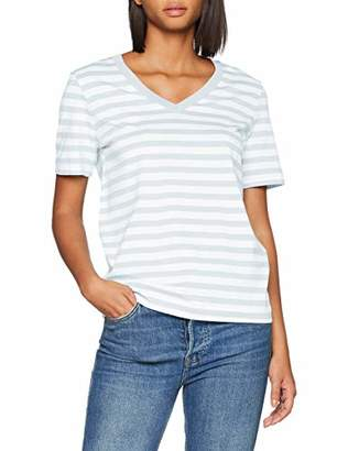 Selected Women's Slfstandard Ss V-Neck Tee Str Seasonal T-Shirt,14 (Size: Large)